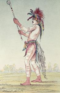 Sioux Ball Player We-Chush-Ta-Doo-Ta, 'The Red Man by George Catlin