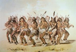 Sioux Bear Dance by George Catlin