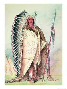 """Sioux Chief, """"The Black Rock"""", 19th Century by George Catlin"""