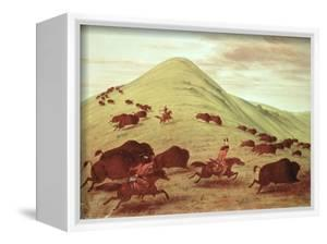 Sioux Indians Hunting Buffalo, 1835 by George Catlin