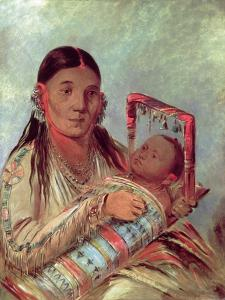 Sioux Mother and Baby, c.1830 by George Catlin