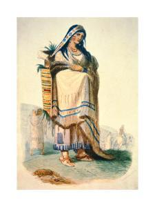 Sioux Mother with Baby in a Cradleboard by George Catlin