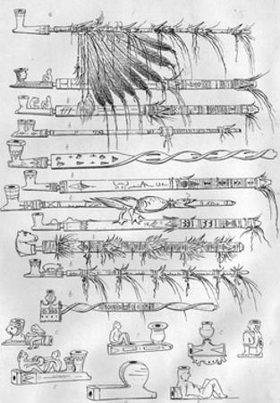 Sioux Pipes, C.1851 by George Catlin