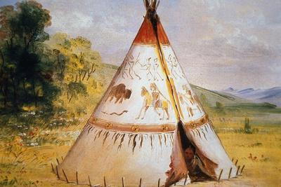 Teepee of the Crow Tribe, C.1850
