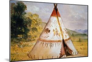 Teepee of the Crow Tribe, C.1850 by George Catlin