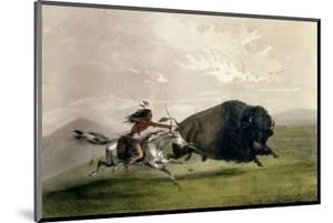 The Buffalo Chase 'singling Out', Pub. by Currier and Ives by George Catlin