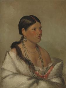 The Female Eagle, Shawano, 1830 by George Catlin