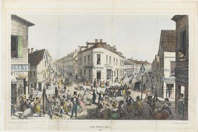 The Five Points, Junction of Baxter, Worth and Park Streets, New York