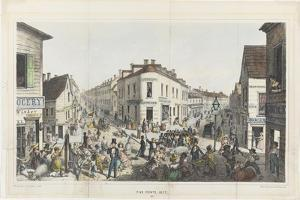 The Five Points, Junction of Baxter, Worth and Park Streets, New York by George Catlin