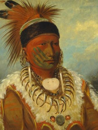 The White Cloud, Head Chief of the Iowas, 1844-45 by George Catlin