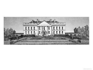 The White House in 1820 by George Catlin