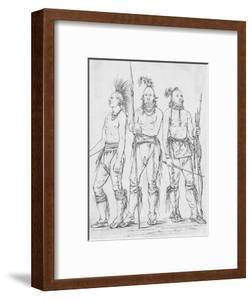 Three Osage Warriors by George Catlin