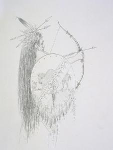 Un-Ka-Ka Ha-Hon-She-Kaw (The Long Finger Nails) 1852 by George Catlin