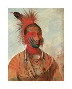 Wash-ka-mon-ya - Fast Dancer, A Warrior by George Catlin