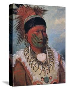 White Cloud, Chief of the Iowas by George Catlin
