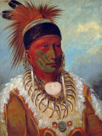 White Cloud, Head Chief of the Iowas by George Catlin by George Catlin