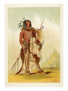 Wun-Nes-Tou Medicine-Man of the Blackfeet People by George Catlin