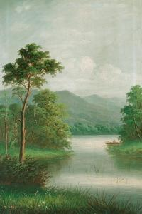 Boat on the River, 1801 by George Cole