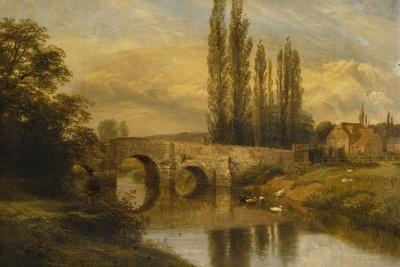 Fittleworth Old Mill and Bridge, on the Rother, Sussex, 1880