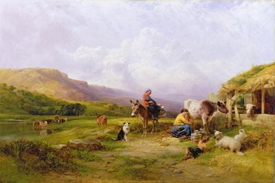 Milking Time on the Swale, Yorkshire, 1863