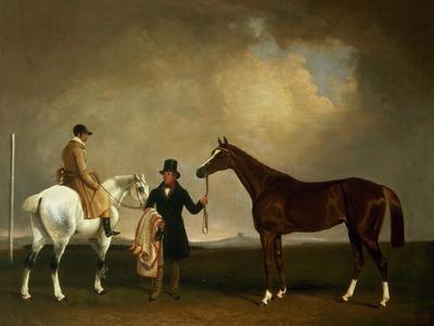 Mr Sadler's 'Decisive' Held by His Trainer with the Jockey John Day Jnr., Stockbridge Racecourse,…