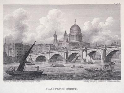 Blackfriars Bridge, London, 1827