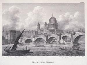 Blackfriars Bridge, London, 1827 by George Cooke