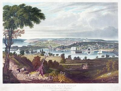 City of Washington from Beyond the Navy Yard, by William James Bennett (1787-1844) C.1834
