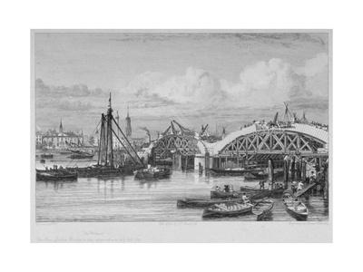 London Bridge under Construction, 1827