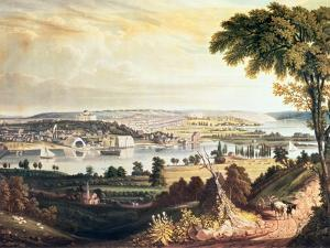 The City of Washington from Beyond the Navy Yard, Engraved by William James Bennett, c.1824 by George Cooke