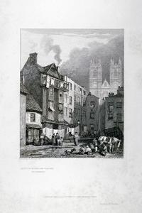 William Caxton's House in the Almonry, Westminster, London, 1827 by George Cooke
