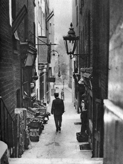 George Court (An Alleyway Leading to the Adelphi Theatre from the Stran), London, 1926-1927- Whiffin-Giclee Print