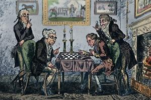 'A Game of Chess', 1948 by George Cruikshank
