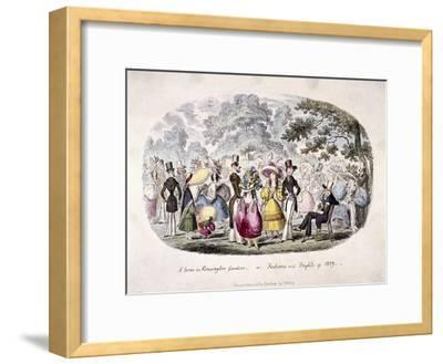 A Scene in Kensington Gardens or Fashion and Frights of 1829