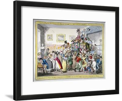 A Swarm of English Bees Hiving in the Imperial Carriage!! a Scene at the London Museum, 1816