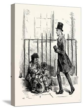 Charles Dickens Sketches by Boz Hurrying Along a By-Street