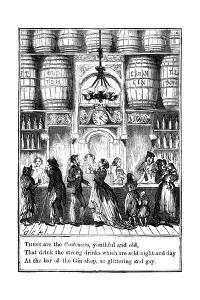 Customers from the Gin-Shop by Cruikshank by George Cruikshank