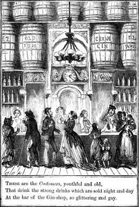 Customers from the Gin-Shop by Cruikshank by George Cruikshank