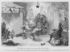 Falstaff Giving His Account of the Affair at Gadshill by George Cruikshank