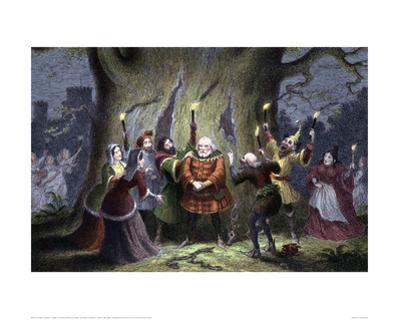 Falstaff in a Scene from The Merry Wives of Windsor