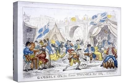 Gambols on the River Thames, Feby, 1814