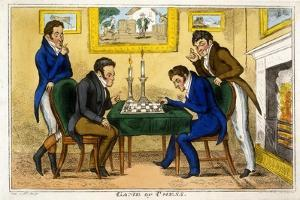 Game of Chess, Pub. Mccleary, Dublin, 1819 by George Cruikshank