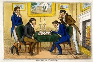 Game of Chess, Pub. Mccleary, Dublin, 1819 by George Cruikshank