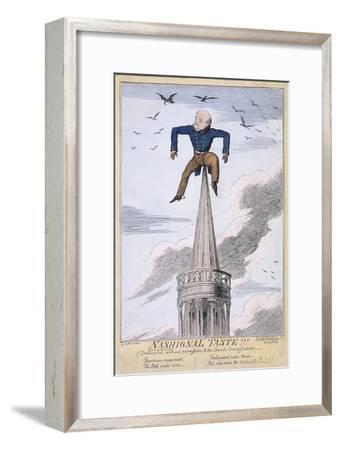 John Nash on the Spire of All Souls Church, Langham Place, Westminster, London, 1824