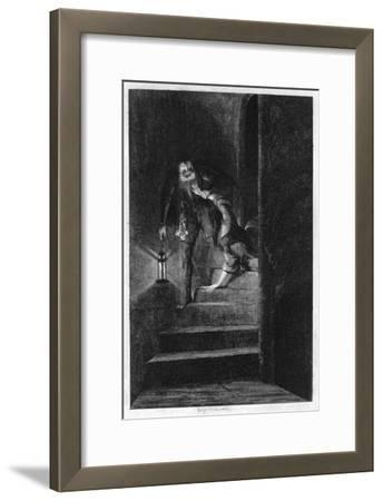 Lawrence Nightgall Dragging Cicely Down the Secret Stairs in the Salt Tower, 1840