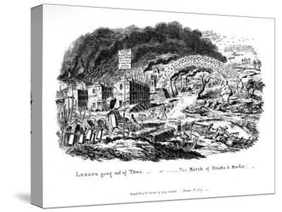 London Going Out of Town or the March of Bricks and Mortar, 1829