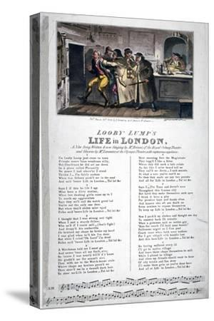 Looby Lump's Life in London, a New Song..., 1822