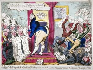 Loyal Address's and Radical Petitions..., 1819 by George Cruikshank