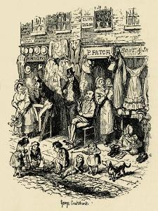'Monmouth Street, Soho, an illustration by G. Cruikshank for Dickens' Sketches by Boz. ', (1938) by George Cruikshank