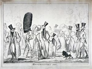 Monstrosities of 1821, 1835 by George Cruikshank